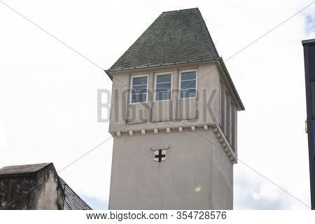 Bad Honnef, Germany - March 27, 2016: Tower On The Former Campus Of The Business School St Anno Scho
