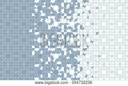 Arabesque Tile Seamless Vector Border. Geometric Halftone Border With Arabesque, Arabian Disintegrat