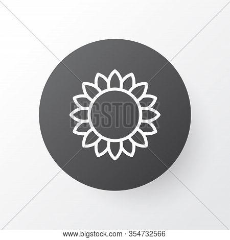 Sunflower Icon Symbol. Premium Quality Isolated Helianthus Element In Trendy Style.