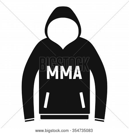 Mma Hoodie Icon. Simple Illustration Of Mma Hoodie Vector Icon For Web Design Isolated On White Back