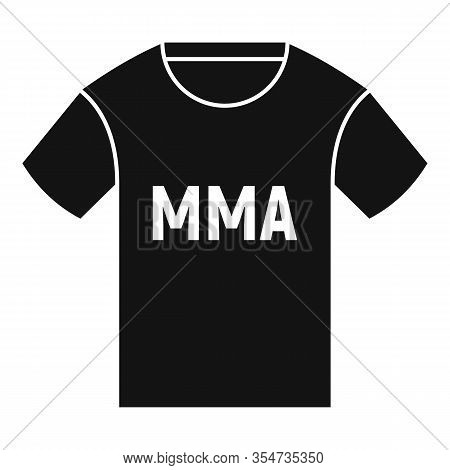 Mma Tshirt Icon. Simple Illustration Of Mma Tshirt Vector Icon For Web Design Isolated On White Back