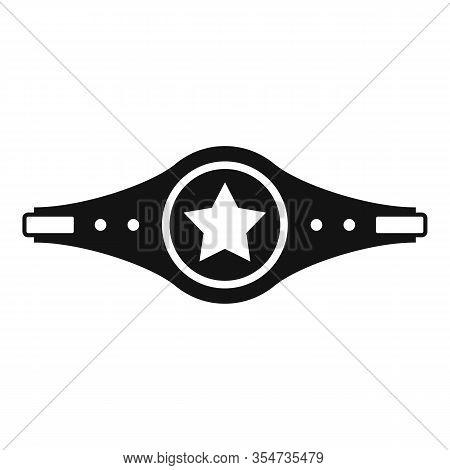Boxing Champion Belt Icon. Simple Illustration Of Boxing Champion Belt Vector Icon For Web Design Is