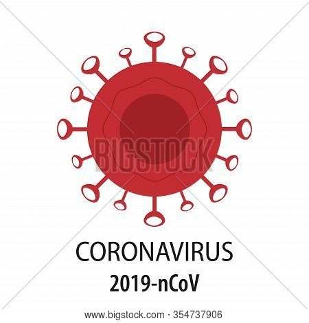 Coronavirus Icon, A New Concept Of The 2019 Coronavirus -ncov Responsible For The Asian Flu Outbreak