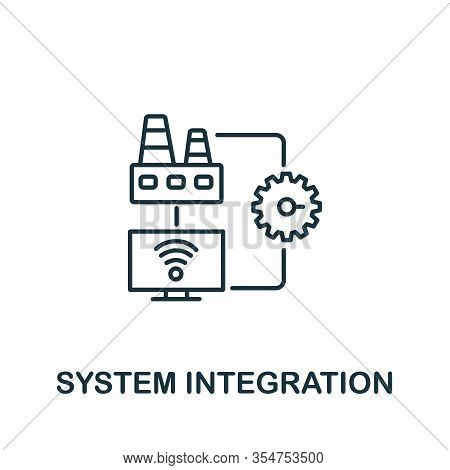 Systems Integration Icon From Industry 4.0 Collection. Simple Line Element Systems Integration Symbo
