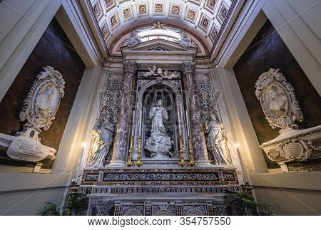 Palermo, Italy - May 8, 2019: Interior Of Roman Catholic Assumption Cathedral In Palermo On Sicily I