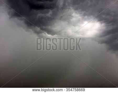 Cloudy Storm And Grey Rainy Sky. Atmosphere Of Earth Sky Gray Daytime, Dark Storming Background Tran