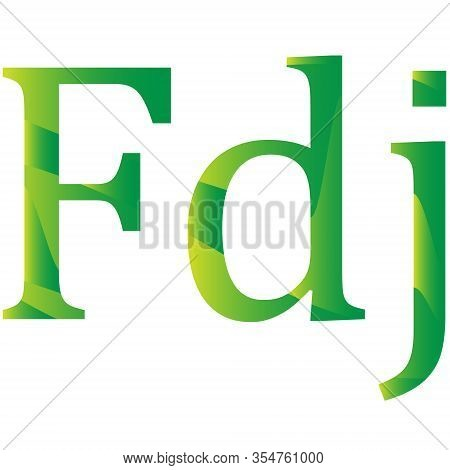 Djiboutian Franc Currency Symbol Icon Of Djibouti Vector Illustration On A White Background