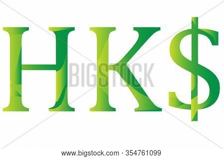 Hong Kong Dollar Currency Symbol Icon Vector Illustration On A White Background