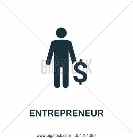 Entrepreneur Icon. Simple Element From Business Disruption Collection. Filled Entrepreneur Icon For