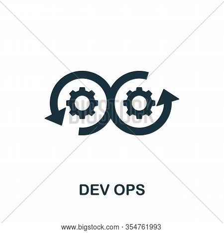 Dev Ops Icon. Simple Element From Digital Disruption Collection. Filled Dev Ops Icon For Templates,