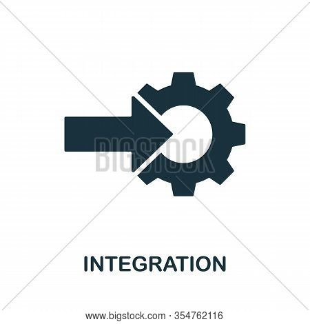 Integration Icon. Simple Element From Digital Disruption Collection. Filled Integration Icon For Tem