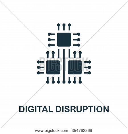 Digital Disruption Icon. Simple Element From Digital Disruption Collection. Filled Digital Disruptio