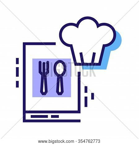 Cooking Courses Color Line Icon. Food Masterclass. Culinary School, Food Workshop, Chef Kitchenware.