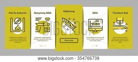 Knife Making Utensil Onboarding Mobile App Page Screen Vector. Sharpening And Machine Knife Making,