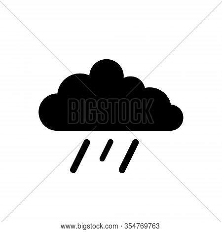 Rainy Icon Vector, Rainy Cloud Icon - Nature