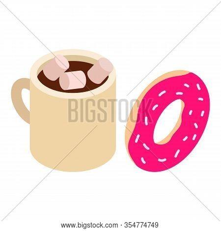 Tasty Breakfast Icon. Isometric Illustration Of Tasty Breakfast Vector Icon For Web