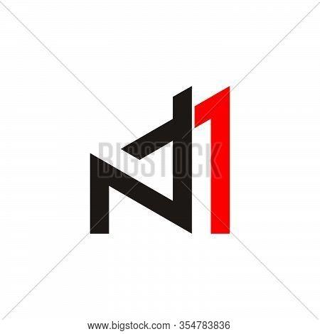 Letter Nt Arrow Simple Geometric Line Logo Vector