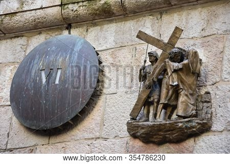 The Via Dolorosa - Processional Route In The Old City Of Jerusalem, Believed To Be The Path That Jes