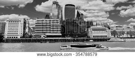 Cityscape Of London, Uk In B/w Format