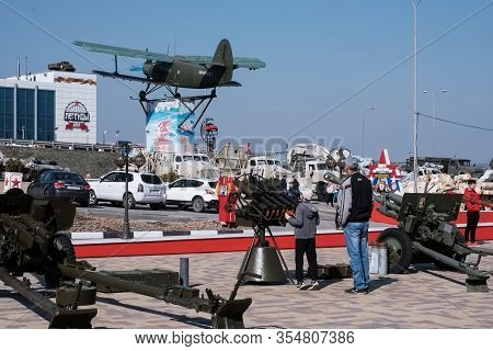 Military. Old Military Equipment Of The Ussr And Russia. Military-patriotic Park Of Culture And Recr