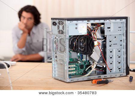 close-up of a computer