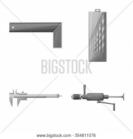 Vector Design Of Renovation And Household Symbol. Set Of Renovation And Handicraft Stock Symbol For