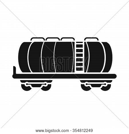 Vector Design Of Wagon And Cistern Sign. Graphic Of Wagon And Tank Stock Vector Illustration.
