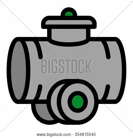Tractor Cistern Icon. Outline Tractor Cistern Vector Icon For Web Design Isolated On White Backgroun
