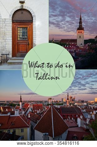 Cover For Travel Article For Visiting Tallinn, Estonia With Text What To Do In Tallinn