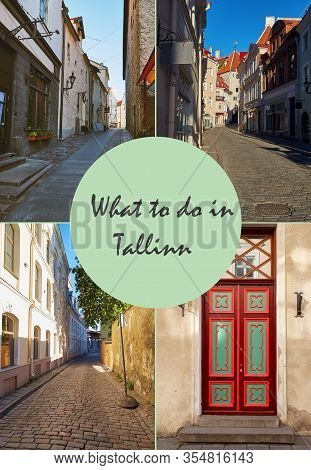 Cover For Travel Article For Visiting Tallinn, Poland With Text What To Do In Tallinn