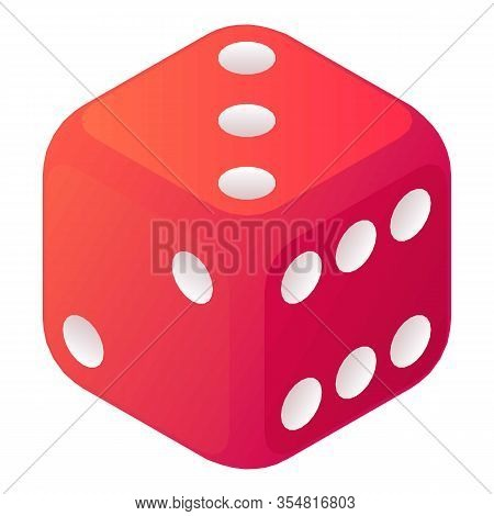Cheat Dice Icon. Isometric Of Cheat Dice Vector Icon For Web Design Isolated On White Background