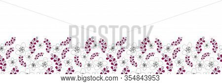Flowers Border-love In Parise Seamless Repeat Pattern Abstract Pattern Illustration Border Of Modern
