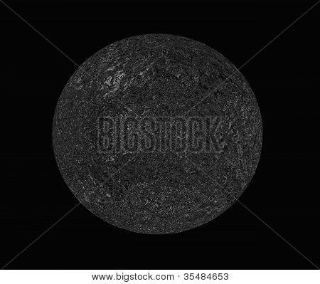 round of Unknown planet on a dark background poster