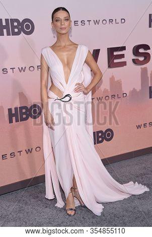 LOS ANGELES - MAR 05:  Angela Sarafyan arrives for ÔWestworldÕ Season 3 Premiere on March 05, 2020 in Hollywood, CA