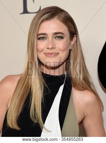LOS ANGELES - MAR 07:  Melissa Roxburgh arrives for ÔI Still BelieveÕ Screening on March 07, 2020 in Hollywood, CA