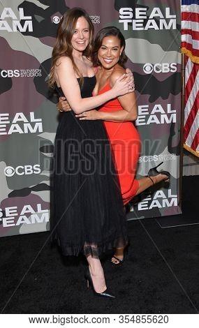 LOS ANGELES - FEB 25:  Rachel Boston and Toni Trucks arrives for ÔÕSeal TeamÕ Winter Premiere on February 25, 2020 in Hollywood, CA