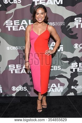 LOS ANGELES - FEB 25:  Toni Trucks arrives for ÔÕSeal TeamÕ Winter Premiere on February 25, 2020 in Hollywood, CA
