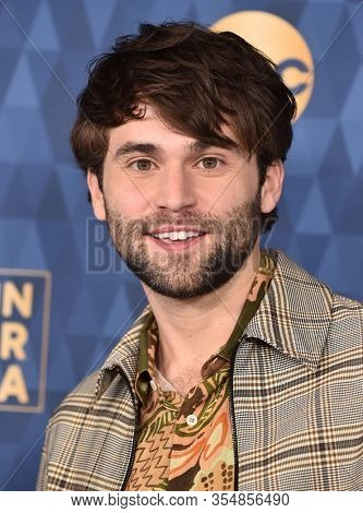 LOS ANGELES - JAN 08:  Jake Borelli arrives for the ABC Winter TCA Party 2020 on January 08, 2020 in Pasadena, CA