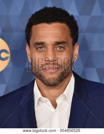 LOS ANGELES - JAN 08:  Michael Ealy arrives for the ABC Winter TCA Party 2020 on January 08, 2020 in Pasadena, CA
