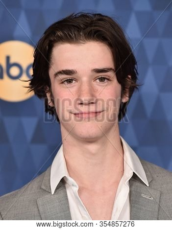 LOS ANGELES - JAN 08:  Daniel DiMaggio arrives for the ABC Winter TCA Party 2020 on January 08, 2020 in Pasadena, CA