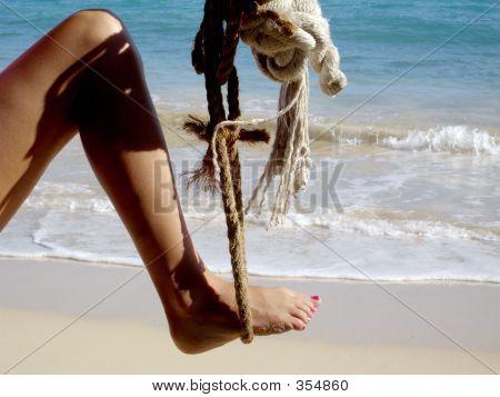 Leg In Rope Swing