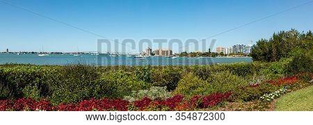 Sarasota Bay With The John Ringling Causeway Bridge In The Background