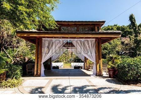 Wedding Gazebo In The Marie Selby Botanical Garden