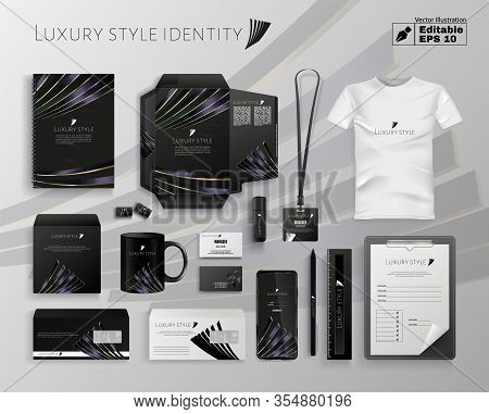 Luxury Style Identity Editable Vector Illustration. Company Name Logo On Stationery Letter Envelope