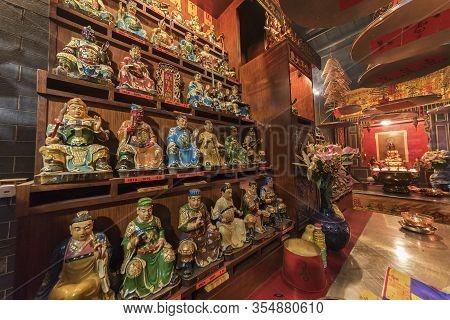 Aberdeen, Hongkong, Feb 02 2017: Hung Shing Temple In Aberdeen Fishing Village In Hong Kong.