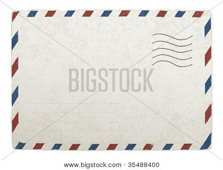 Vintage mailing envelope. Raster version poster