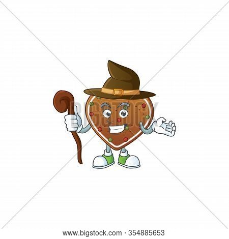 Sweet And Tricky Witch Gingerbread Love Cartoon Character