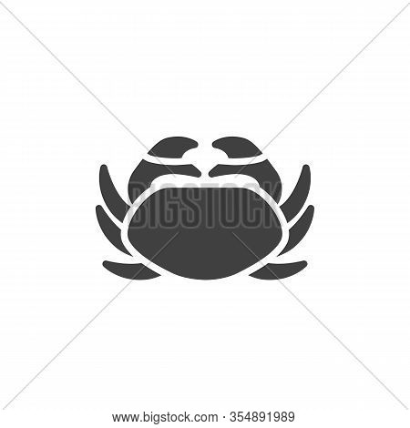 Sea Crab Vector Icon. Filled Flat Sign For Mobile Concept And Web Design. Crustacean Glyph Icon. Sym
