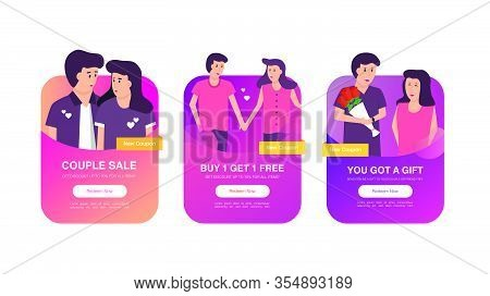 Set Of Coupon Promotion Sale For Website, Internet Ads, Social Media Or Coupon. Big Sale And Super S
