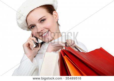 Shopper on the telephone